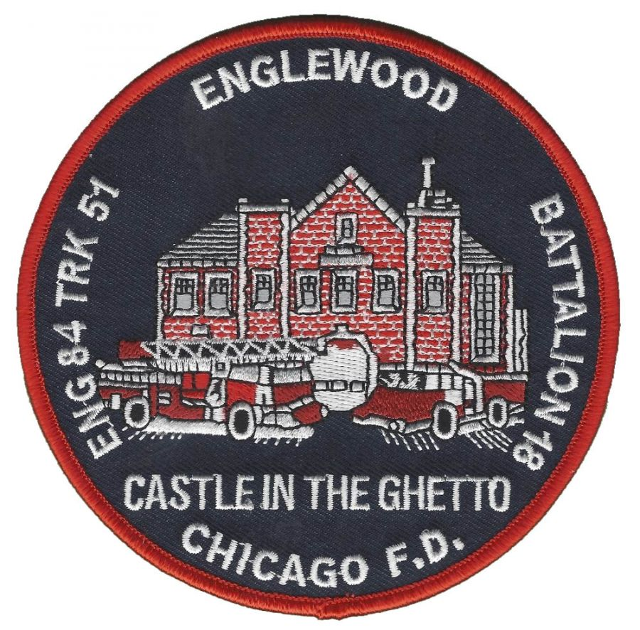 Chicago Fire Dept. - Engine 84, Tr 51 Englewood - Patch / Aufnäher
