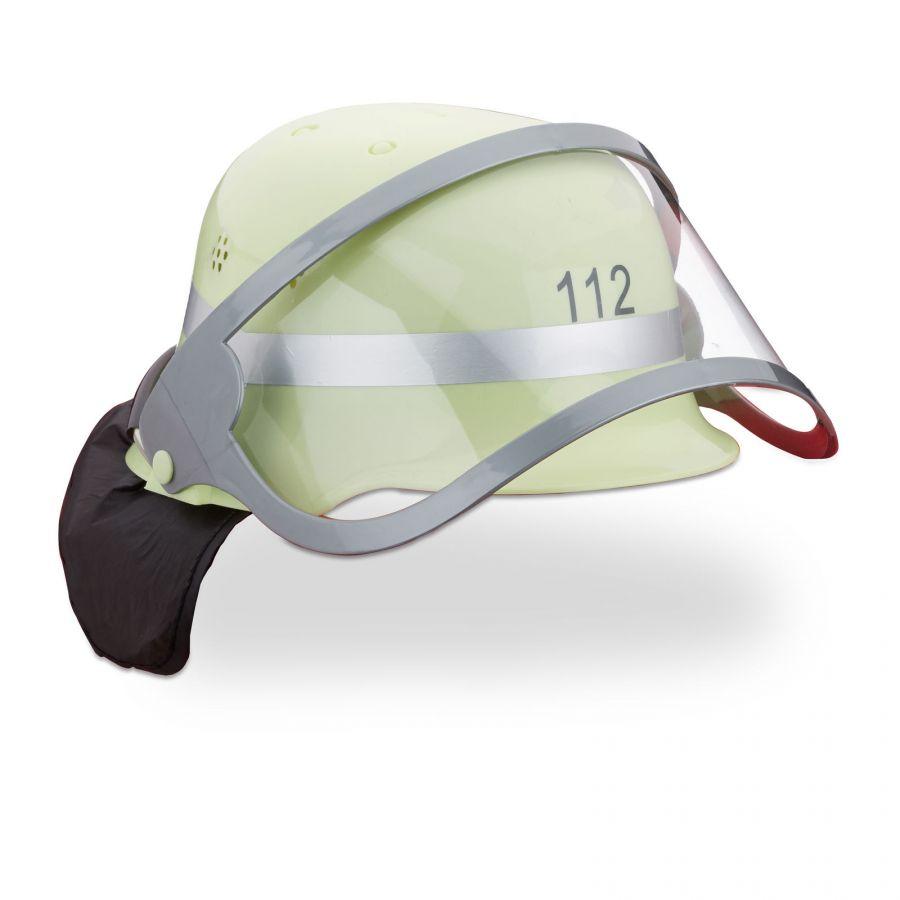 Feuerwehrhelm für Kinder - 112 - verstellbar - mit Visier