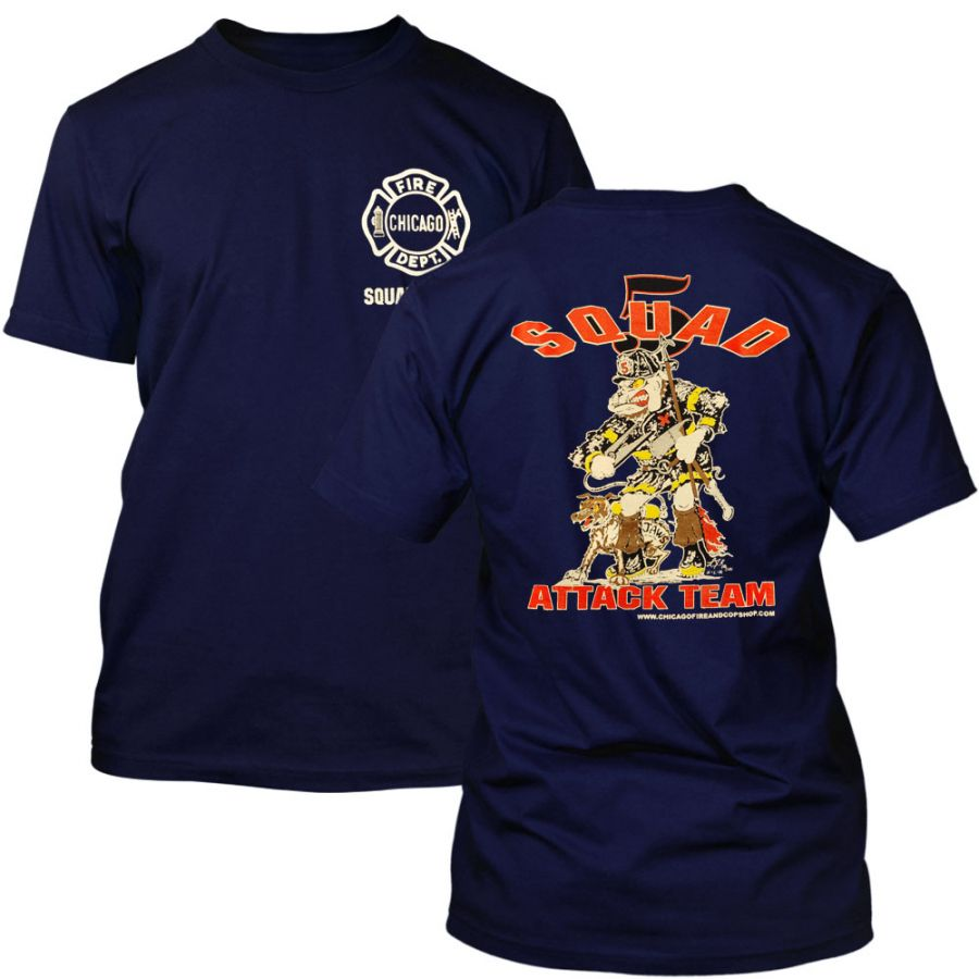 Chicago Fire Department - Squad 5 T-Shirt