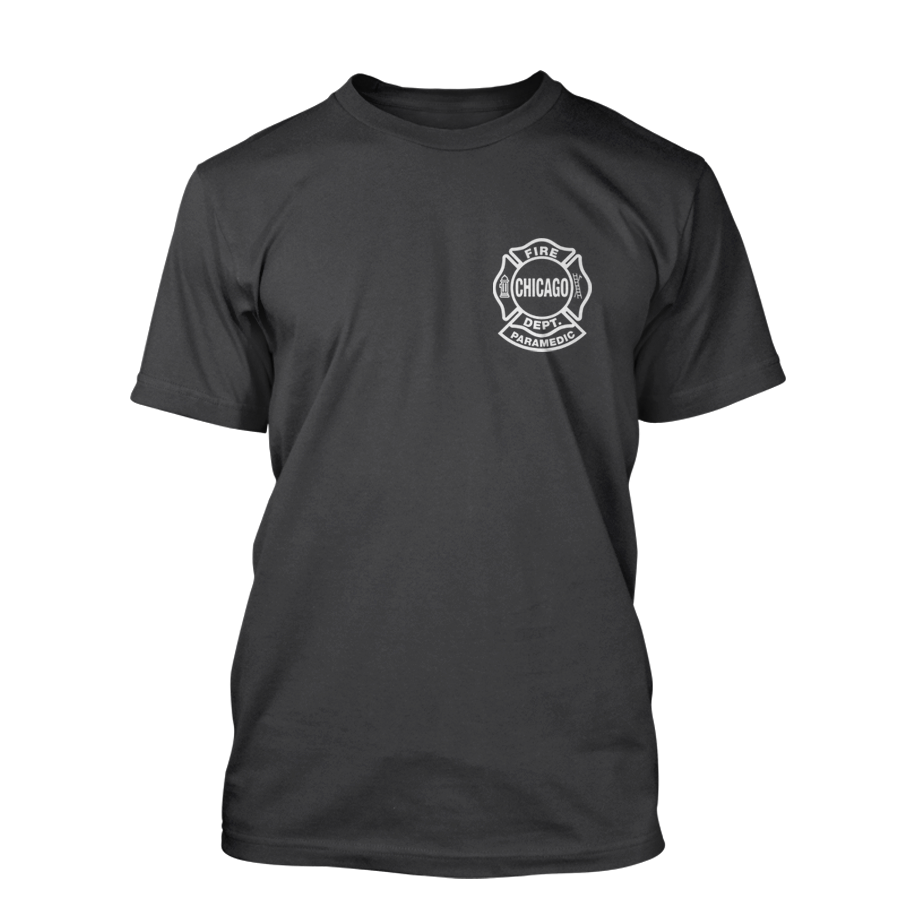Chicago Fire Dept. Paramedic - T-Shirt in dunkelgrau