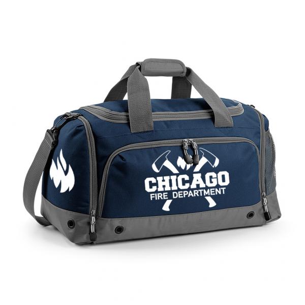 Chicago Fire Dept. - Sporttasche mit Axt-Motiv