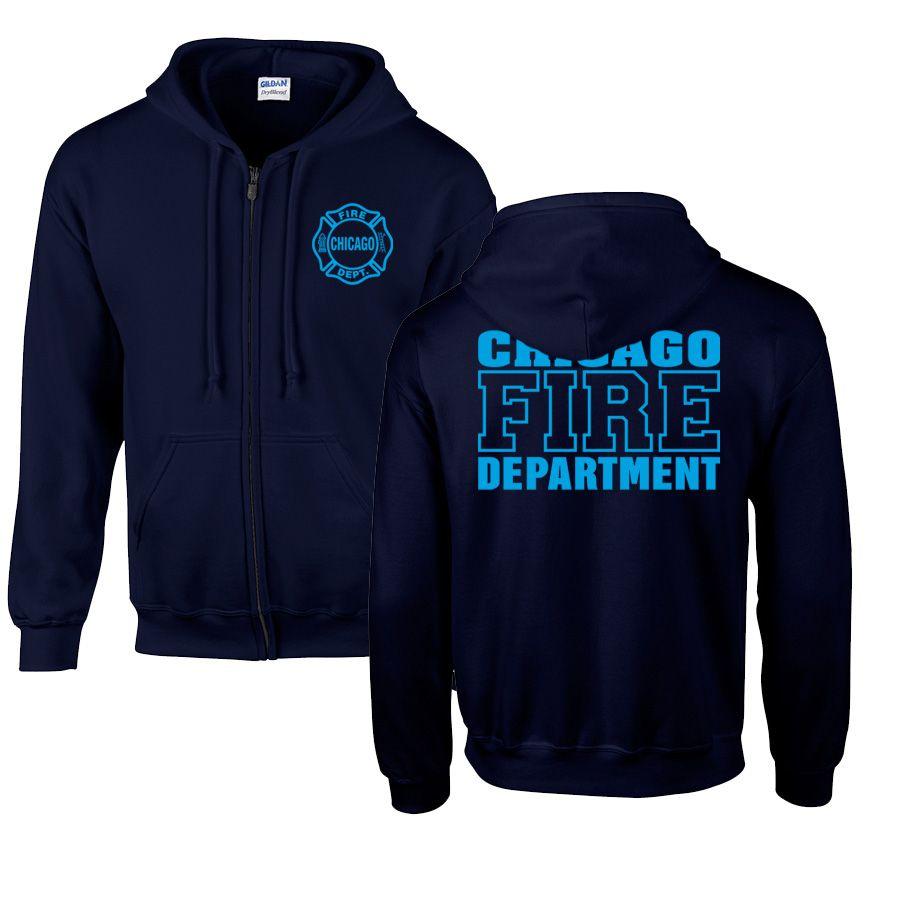 Chicago Fire Dept. - Sweatjacke mit Kapuze (Blue Edition)