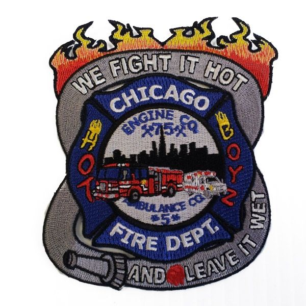 Chicago Fire Dept. - Engine 75 Patch / Aufnäher