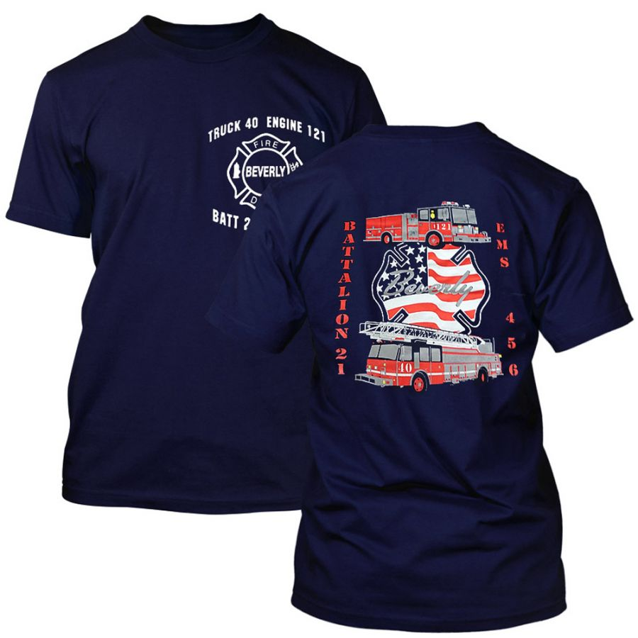 "Chicago Fire Dept. Engine 121 ""Beverly"" T-Shirt"
