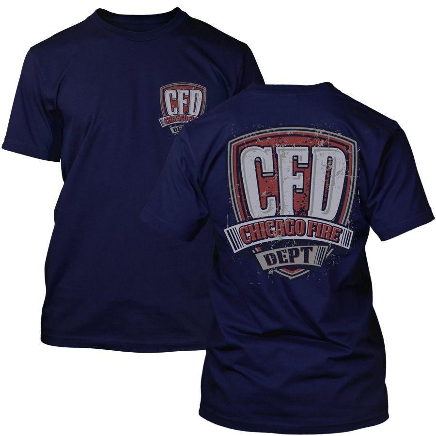 Chicago Fire Dept. - T-Shirt in navy (Vintage Motiv)