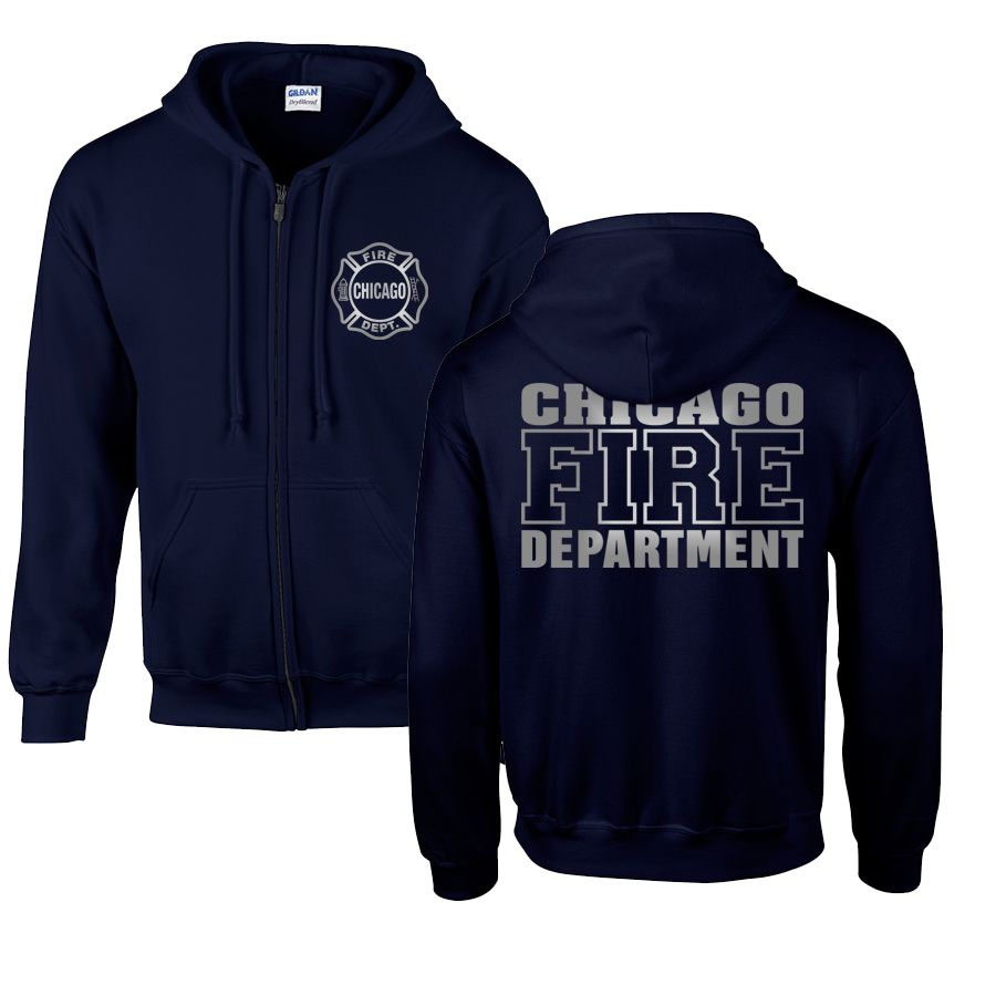 Chicago Fire Dept. - Sweatjacke mit Kapuze (Silver Edition)