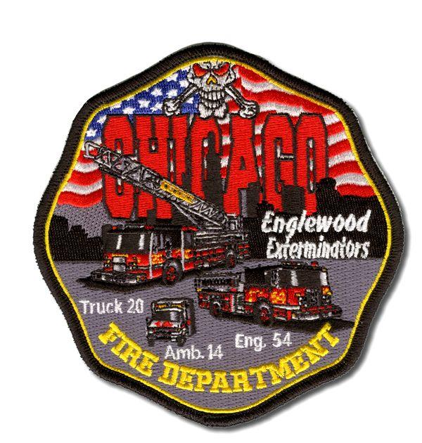 Chicago Fire Dept. - Engine 54, Ladder 20 - Patch / Aufnäher