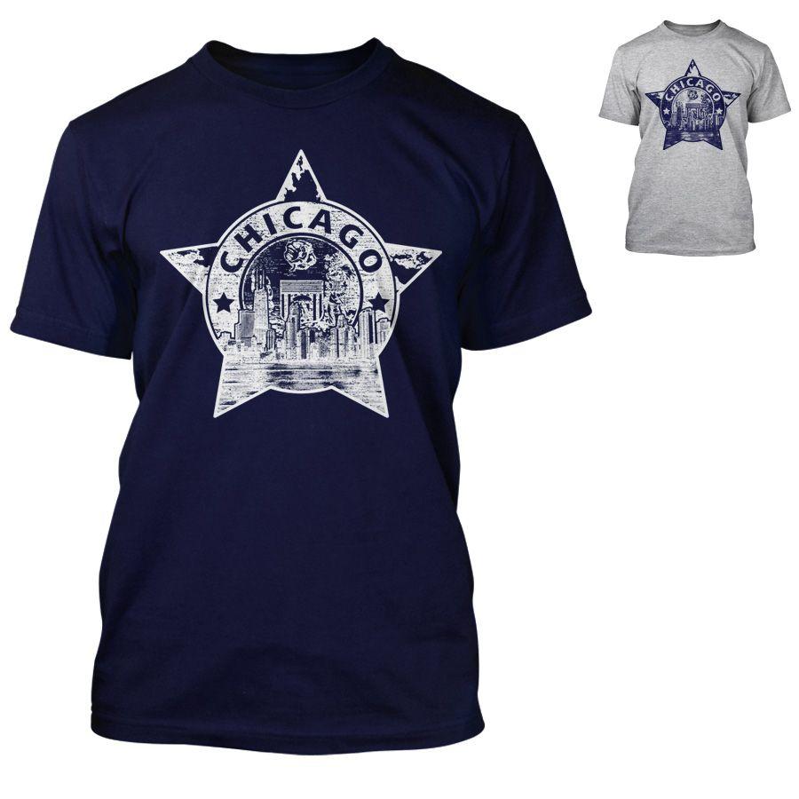 Chicago Police Dept. - T-Shirt mit Skyline-Motiv
