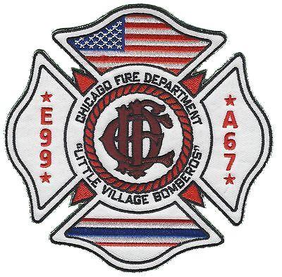 Chicago Fire Dept. - Engine 99, Ambulance 67 - Patch / Aufnäher