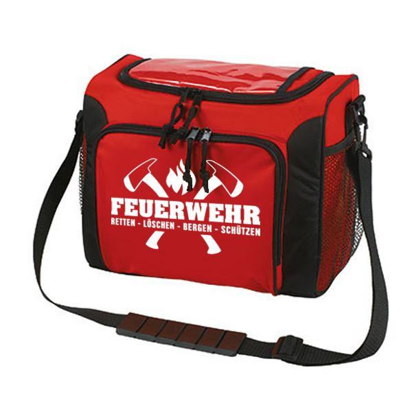 Feuerwehr Kühltasche in rot (Axt Motiv)