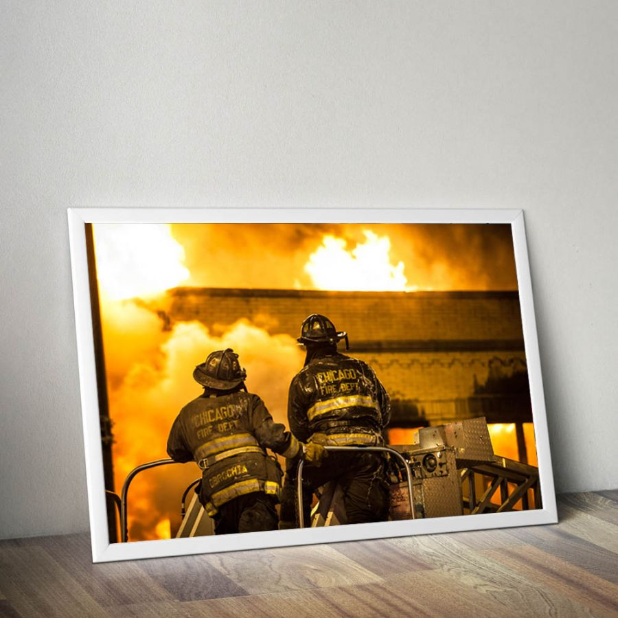 Chicago Fire Dept. - Firefighter Poster (A1 - 59,4 cm x 84,1 cm)