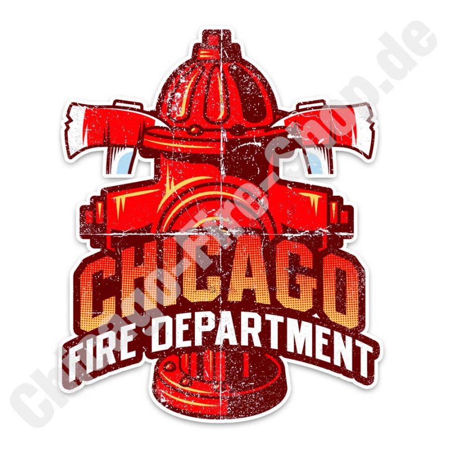 Chicago Fire Dept. - Hydrant - Aufkleber