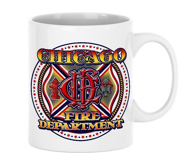 Chicago Fire Dept. - Tasse aus Keramik (CFD-Logo)