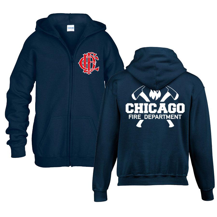 Chicago Fire Dept. - Sweat jacket for children (axe motif)