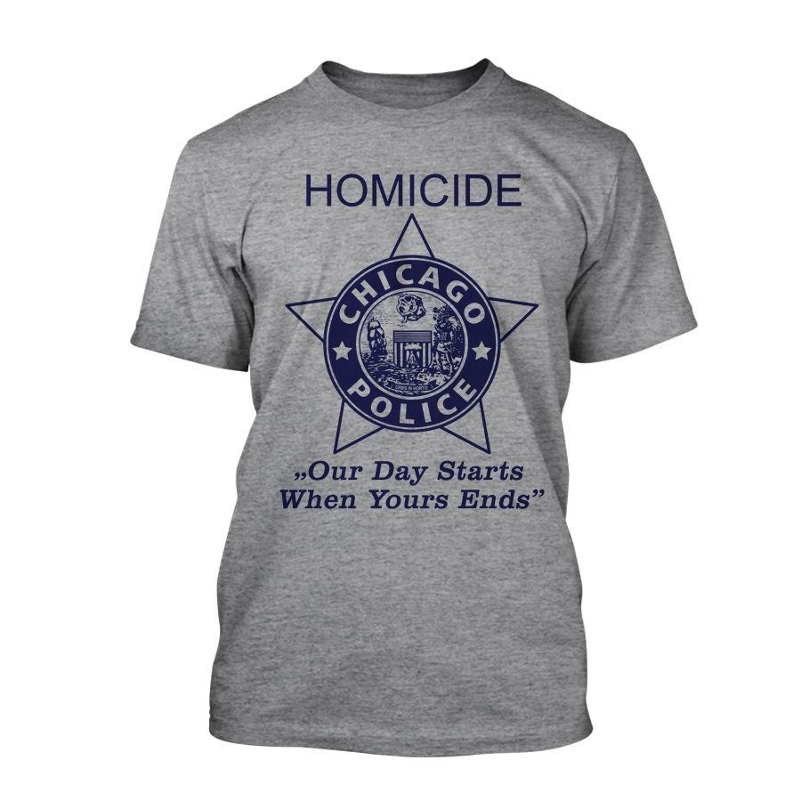 Chicago Police Dept. - Homicide T-Shirt in grau