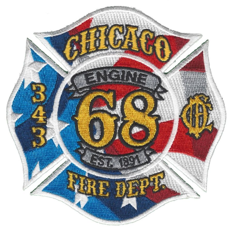 Chicago Fire Dept. - Engine 68 - Patch / Aufnäher