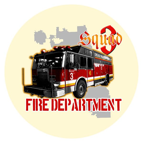 Chicago Fire Dept. - Squad 3 Bierdeckel (5er Set)