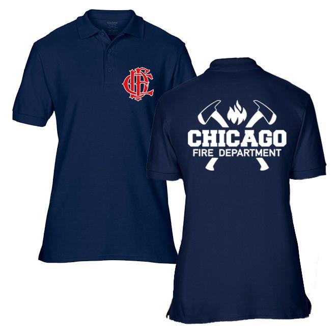 Chicago Fire Dept. - Poloshirt, wahlweise mit Truck 81 oder Squad 3 Logo
