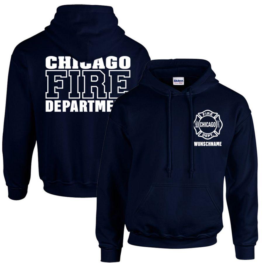 Chicago Fire Dept, - Kapuzenpullover mit Wunschname