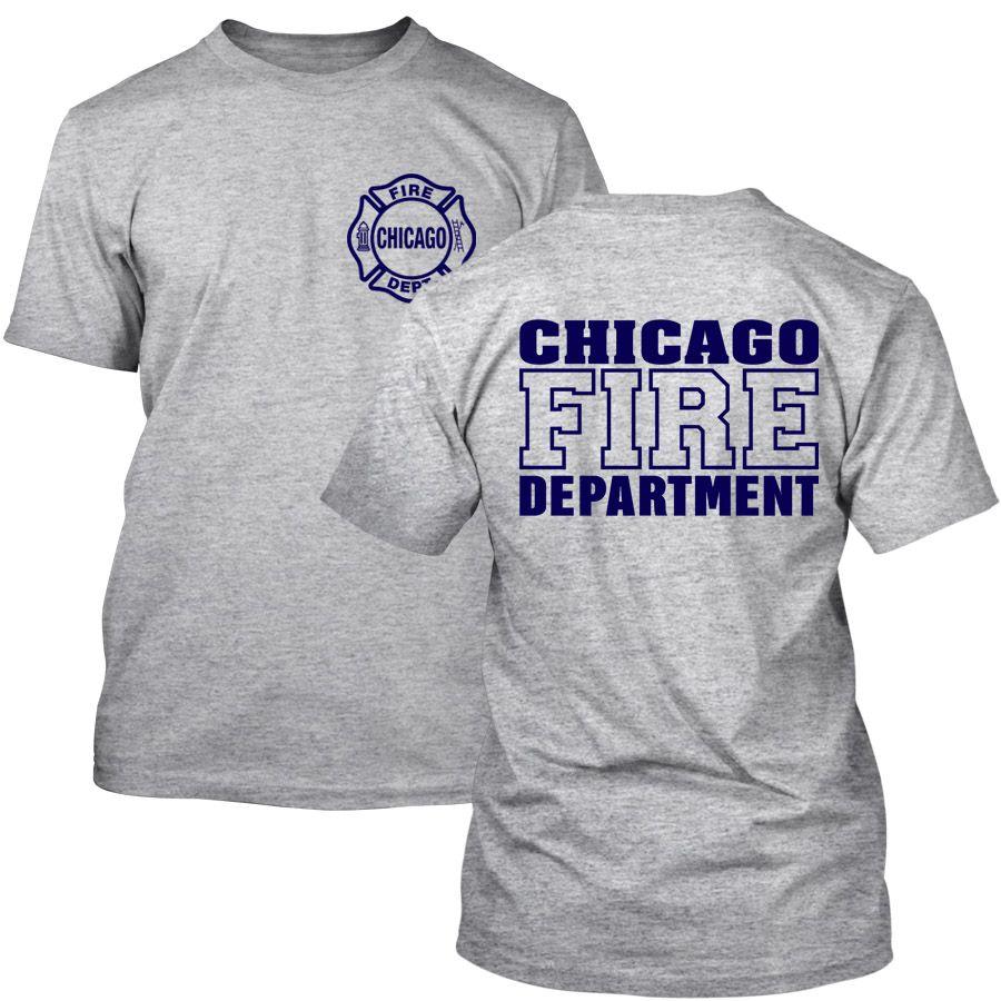 Chicago Fire Dept. - T-Shirt in grau
