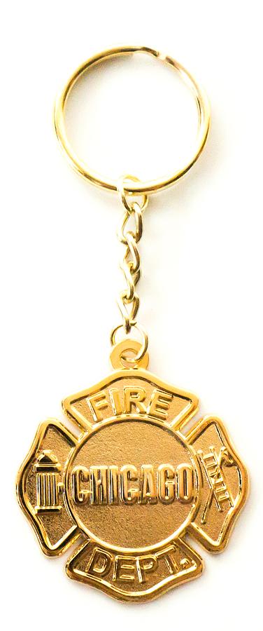 Chicago Fire Dept. - Schlüsselanhänger in gold