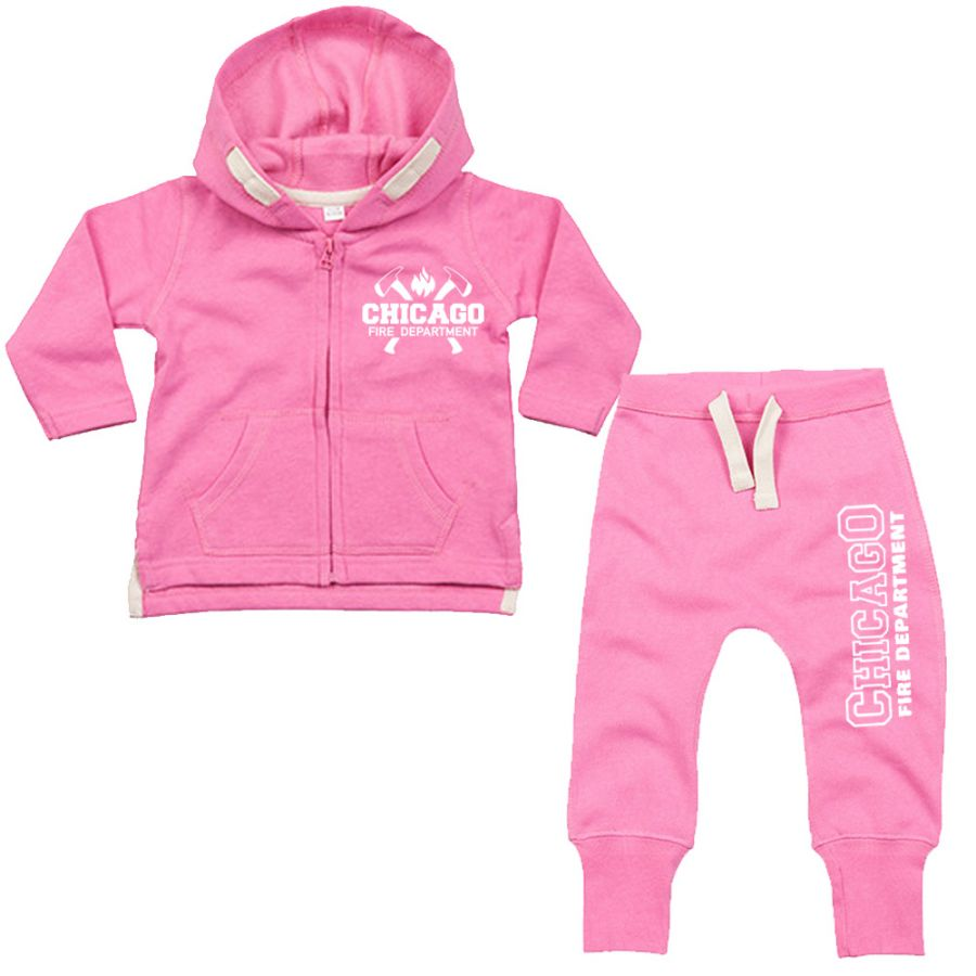 Chicago Fire Dept. - Baby Set Pink
