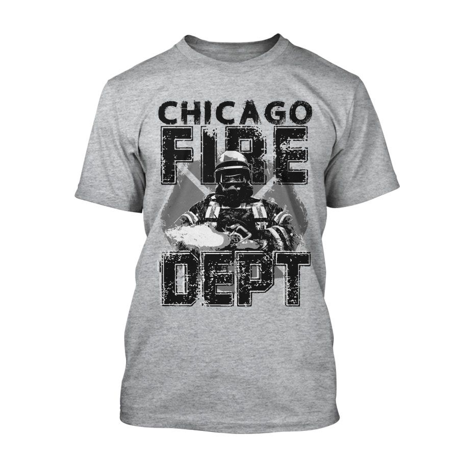 Chicago Fire Department - T-Shirt in grau