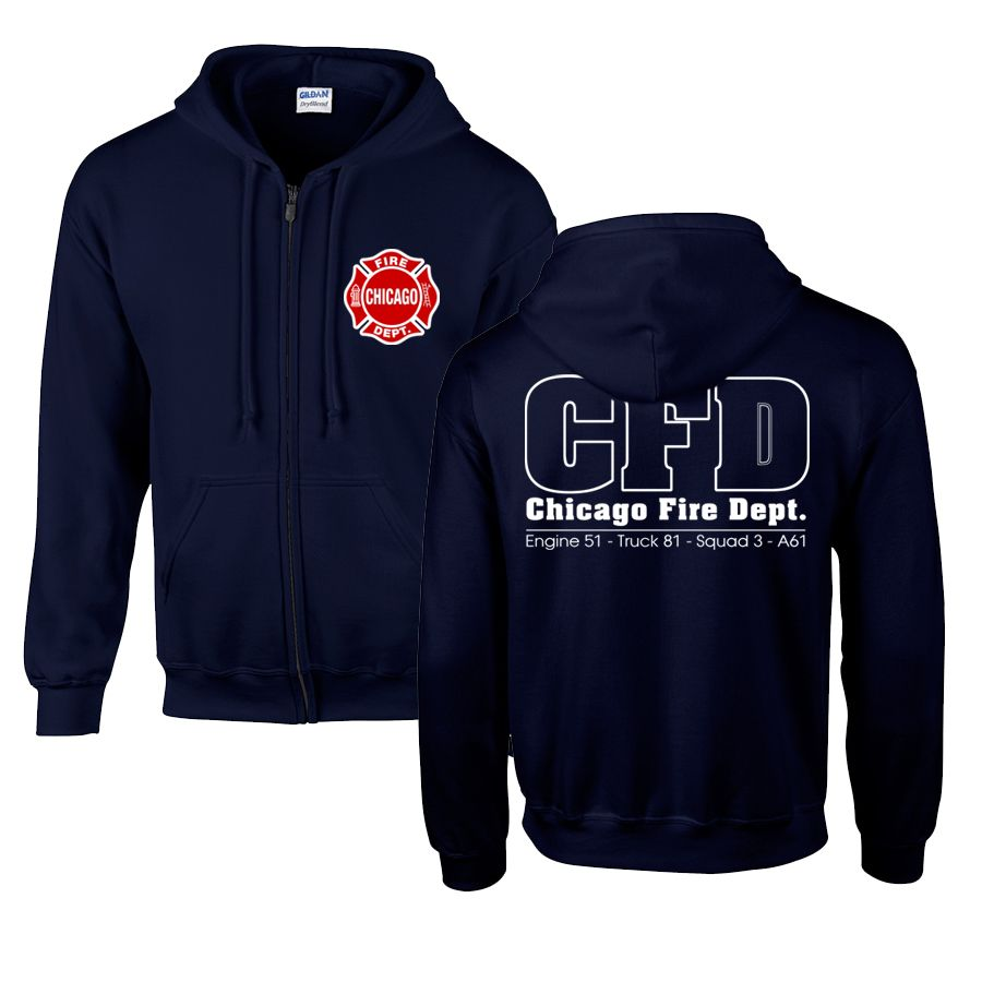 Chicago Fire Dept. - Sweatjacke mit Kapuze (Engine 51, Truck 81, Squad 3, A61)