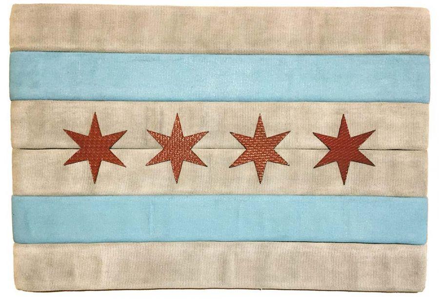 Chicago Flag aus alten CFD Feuerwehrschläuchen