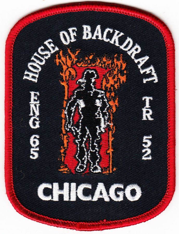 Chicago Engine 65, Truck 52 - House of Backdraft - Patch / Aufnäher