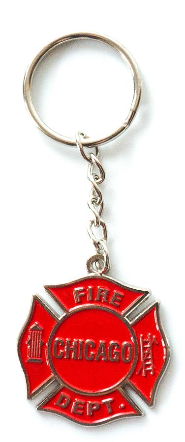 Chicago Fire Dept. - Schlüsselanhänger in rot