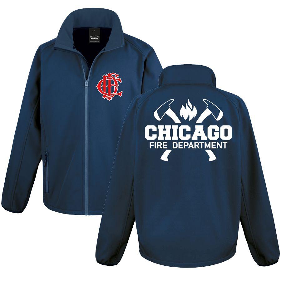 Chicago Fire Dept. - Softshell-Jacke mit Axt-Motiv