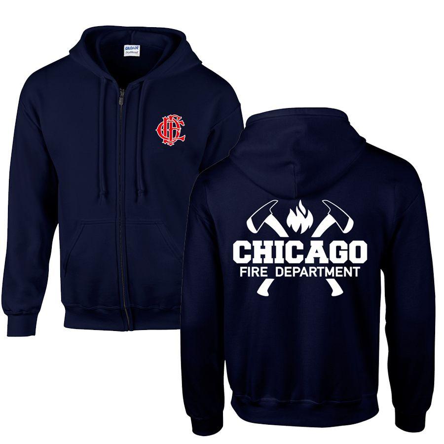 Chicago Fire Dept. - Sweatjacke mit Kapuze - Mit Squad 3 oder Truck 81 Aufschrift