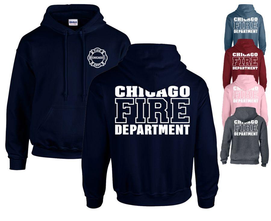 Chicago Fire Dept. - Pullover mit Kapuze (Version 2)