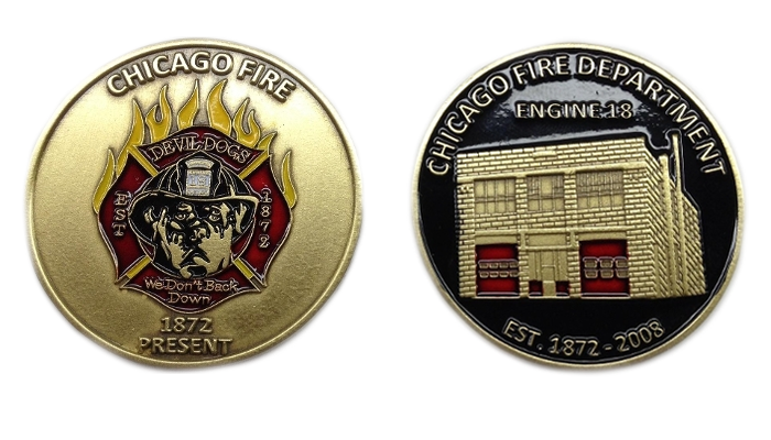 Engine 18 - Devil Dogs - Challenge Coin (Münze)