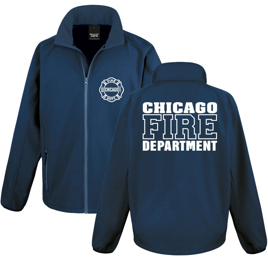 Chicago Fire Dept. - Softshell-Jacke