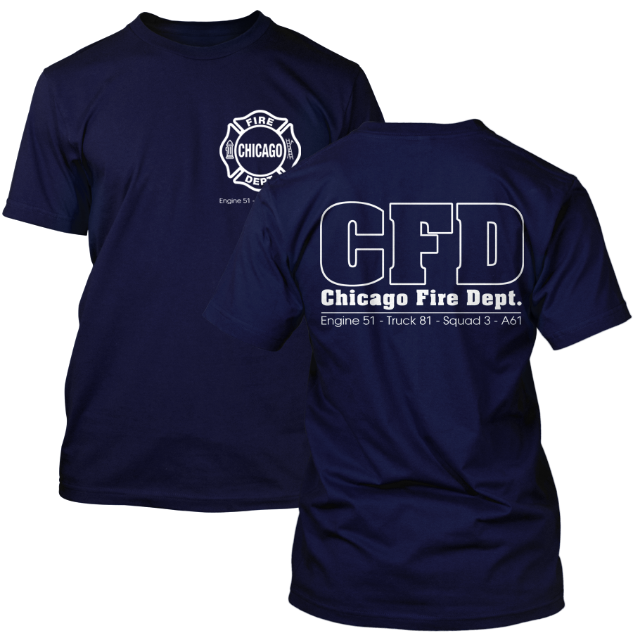 Chicago Fire - Serien T-Shirt (Engine 51, Truck 81, Squad 3, A61)