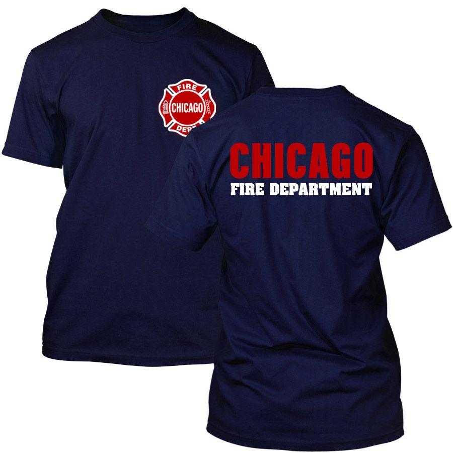Chicago Fire Dept. - T-Shirt mit Logo und Schriftzug