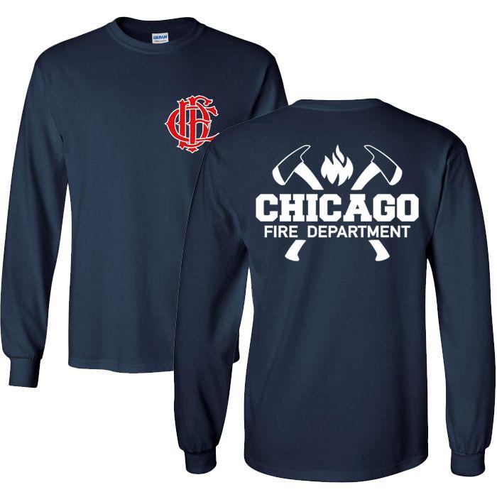 Chicago Fire Dept. - Longshirt mit Axt-Logo