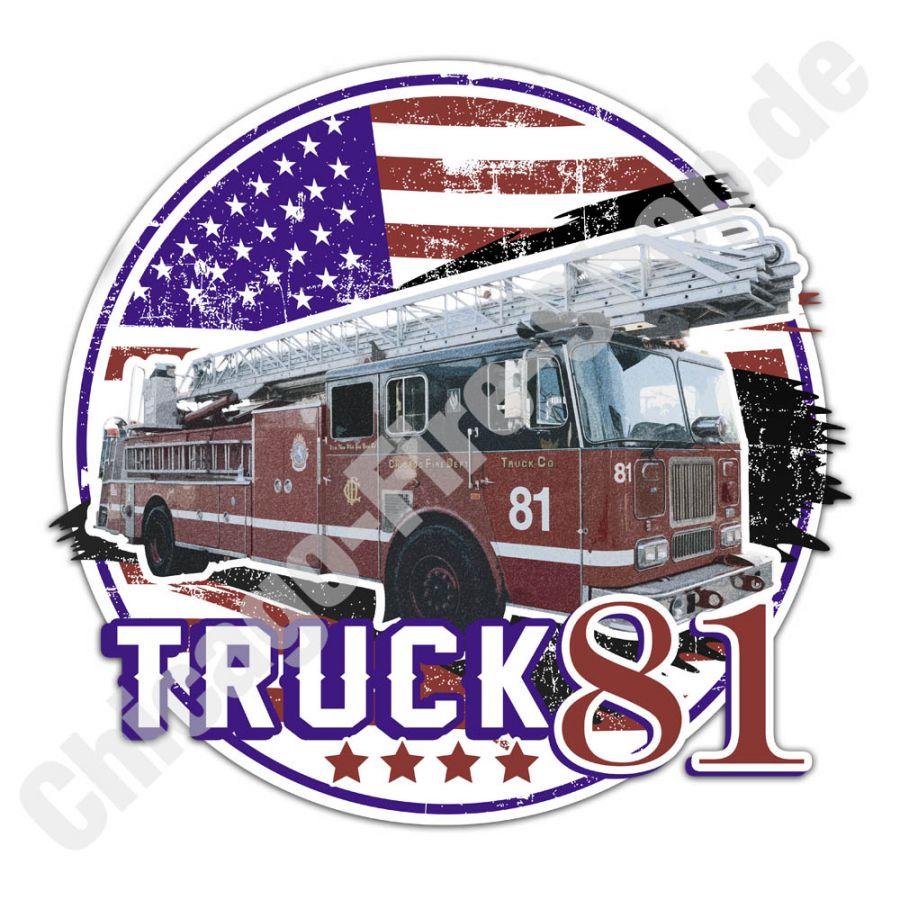 Chicago Fire Dept. - Truck 81 - Aufkleber (9cm)