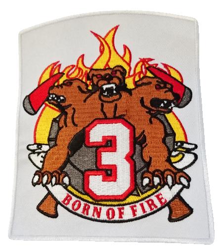 Chicago Fire Dept. - Squad 3 Aufnäher/Patch