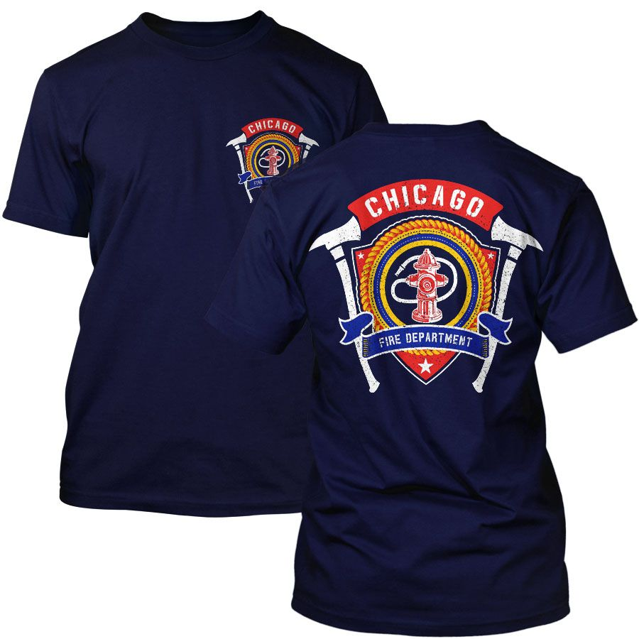 Chicago Fire Dept. - T-Shirt in navy
