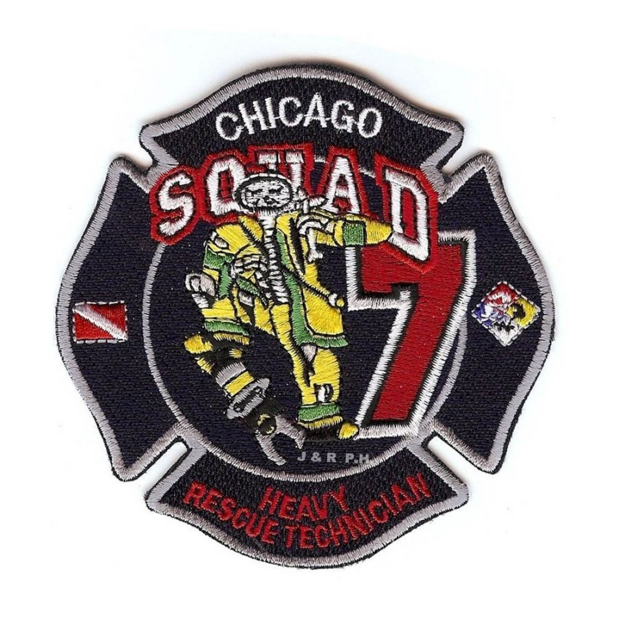 Chicago Fire Dept. - Squad 7 Heavy Rescue Technician - Patch / Aufnäher