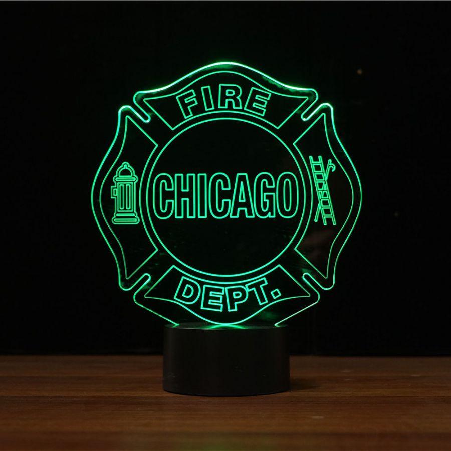 Chicago Fire Dept. - LED Design Leuchte