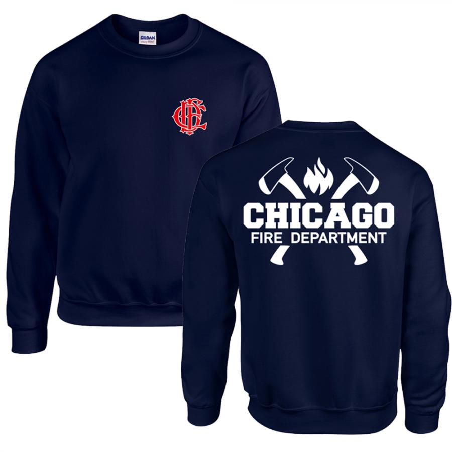 Chicago Fire Dept. - Sweatshirt mit Axt-Motiv