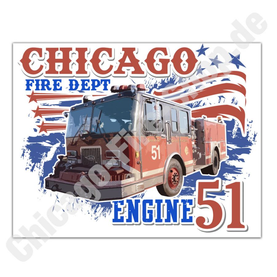 Chicago Fire Dept. - Engine 51 - Sticker