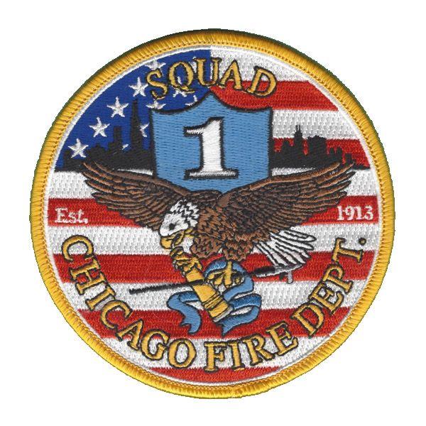 Chicago Fire Dept. - Squad 1 Patch / Aufnäher