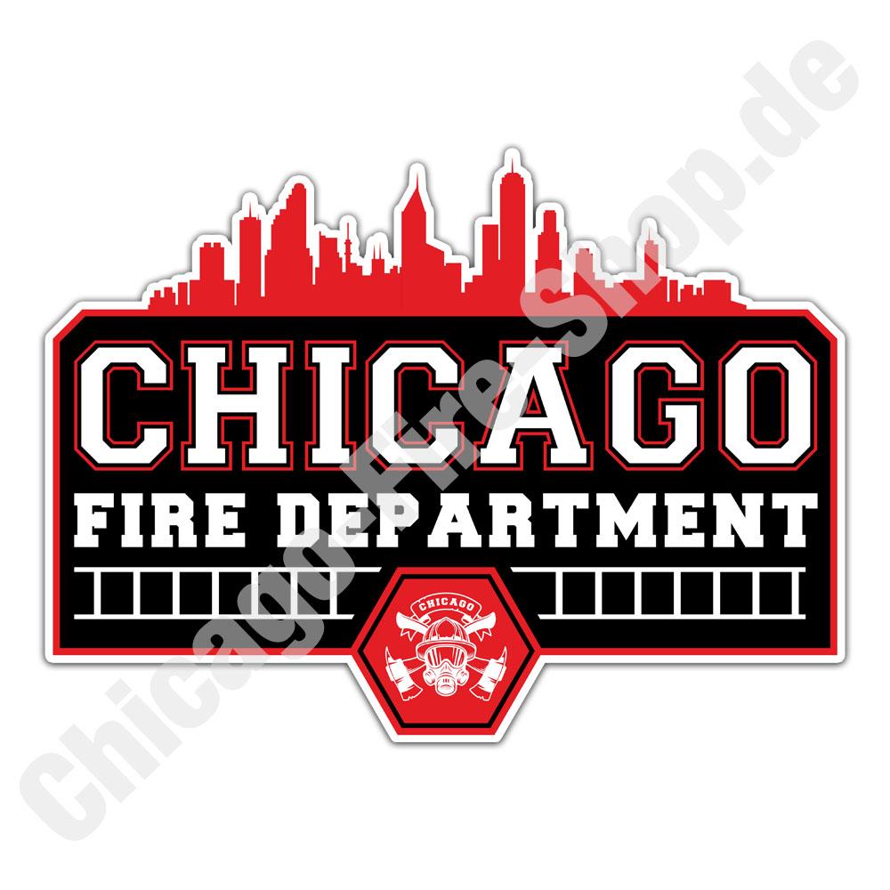 Chicago Fire Dept Skyline Sticker Chicago Fire Shop De