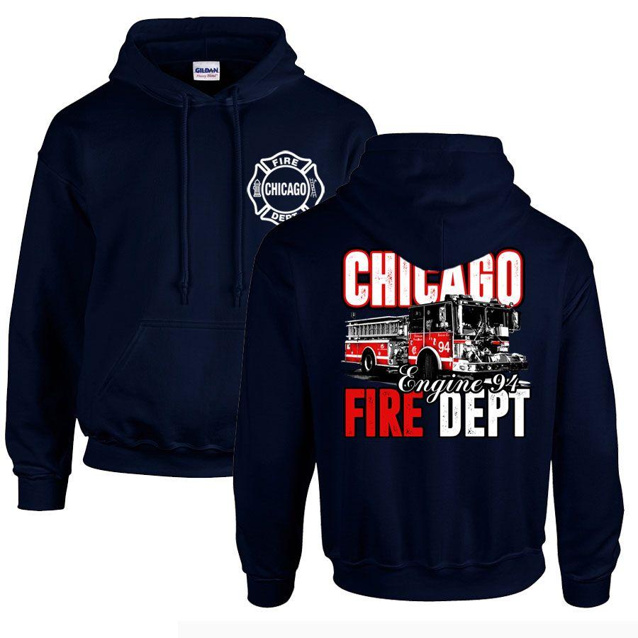 Chicago Fire Dept. - Engine 94 Pullover mit Kapuze