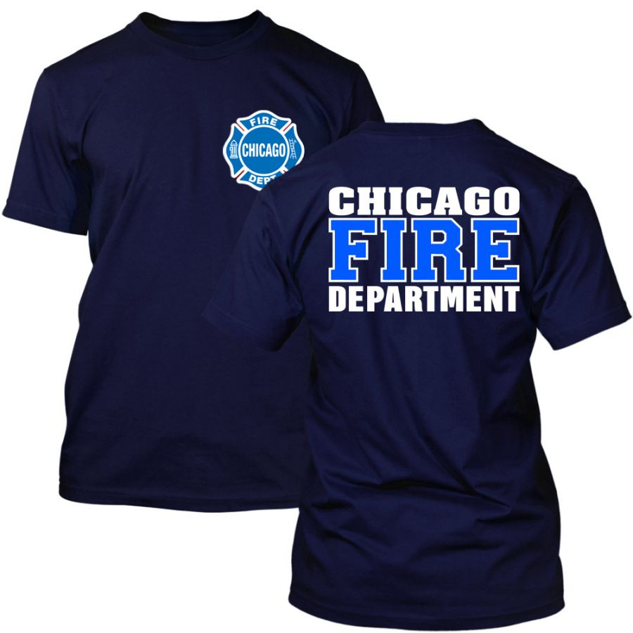 Chicago Fire Dept. - T-Shirt (Blau/Weiß Edition)
